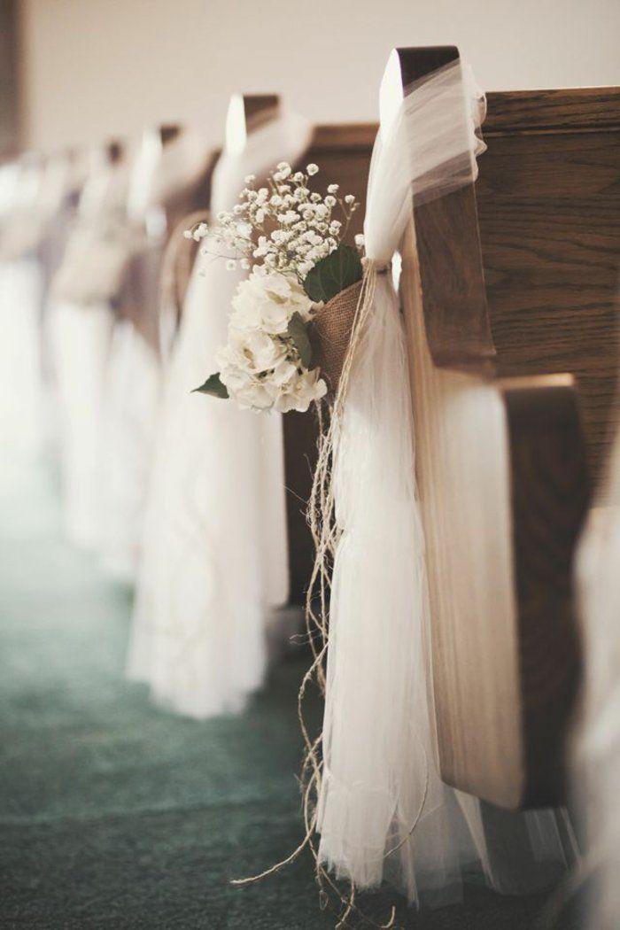 housse de chaise mariage pas cher en voilage blanc et