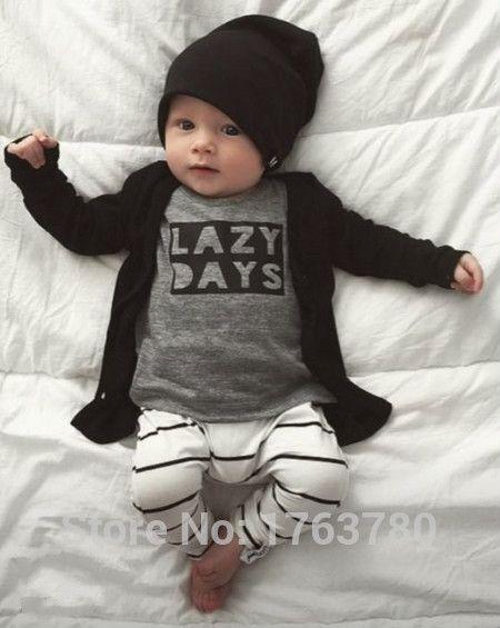 117f126c160eb 2016 nouvelle automne bébé garçon vêtements bébé vêtements mode coton à  manches longues lettre T shirt + pantalons nouveau né bébé vêtements  ensemble dans ...
