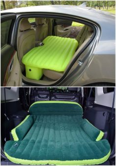 10 Camping Tips and Gadgets You'll Love This Summer-Car Travel Inflatable Mattress   #Camping, #Hacks – melissaamegah