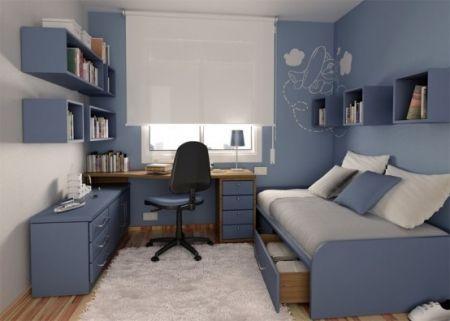 Jolie deco chambre ado garcon bleu gris - clestage1 - Pctr UP