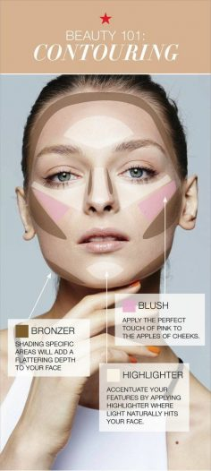 tuto contouring visage facile, leçon de maquillage – mali6286