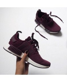 Chaussure Adidas NMD R1 Femme Bordeaux Blanc Adidas latest ladies leisure sports shoes, style fashion, light. – cunyandra