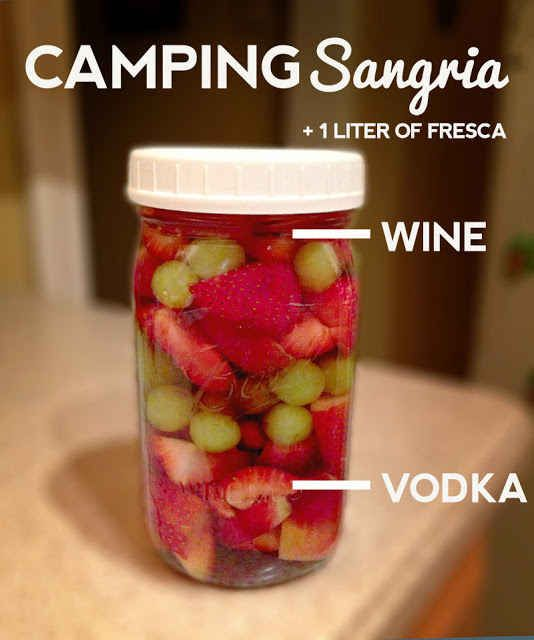 Make camping sangria concentrate using a mason jar. | 41 Genius Camping Hacks You Must Try This Summer – sierrcry