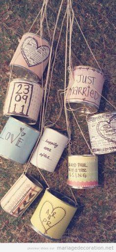 Boîtes de conserve vintage pour décorer la voiture des jeunes mariés | Décoration Mariage | Idées pour décorer un mariage pas cher – Fleuryade