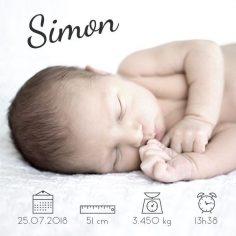 faire part naissance original picto, garçon, fille, photo, icones, moderne, beau – manegeadore