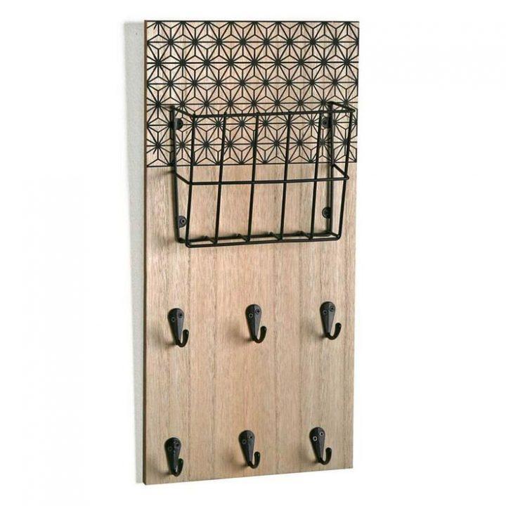 Boite à clés Accroche-Clés + Porte Courrier Géométrique Noir Accroche-Clés + Porte Courrier Géométrique Noir – tirardcamillele
