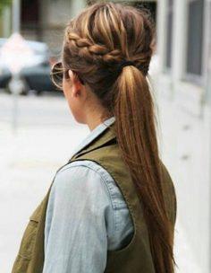 Coiffure cheveux attachés simple hiver 2015 – Cheveux attachés : 30 idées de coiffures chics ou décontractées – Elle – lojipe