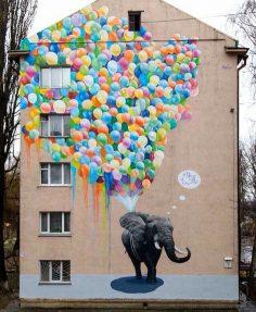 Loved this street art mural by Marina Korbanov in #kyiv #ukraine #streetart #art #contemporaryart – philooooB