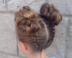coiffure pour petite fille idées coiffure facile chignon – camillejoly03
