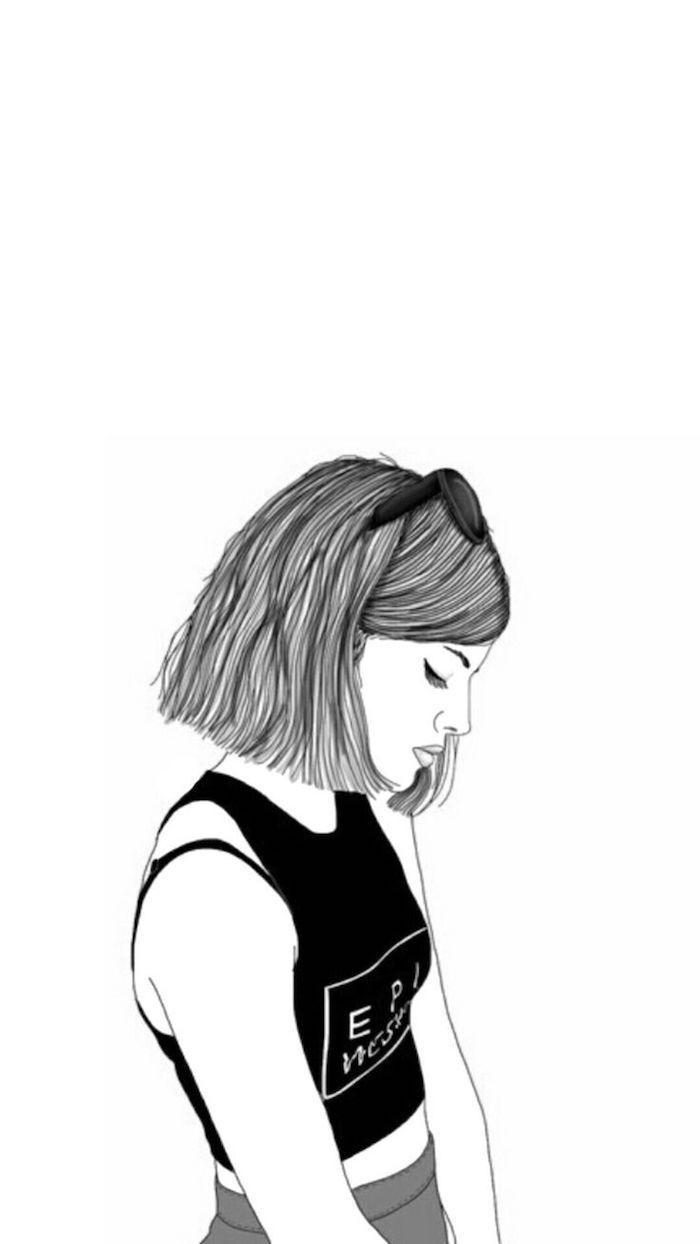 Le fond ecran tumblr fond d'écran verrouillage idée téléphone écran style tumblr fille dessin ...