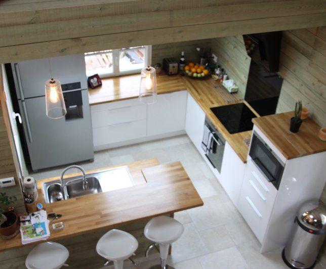 Photo Deco : Cuisine Blanc Chalet Moderne - Pctr UP