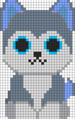 Slush Husky Beanie Boo Minecraft Pixel Art Grid Maker Anime Ideas