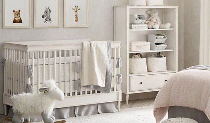 Deco Chambre Bebe Garcon Tabouret Tricote Gris Etagere