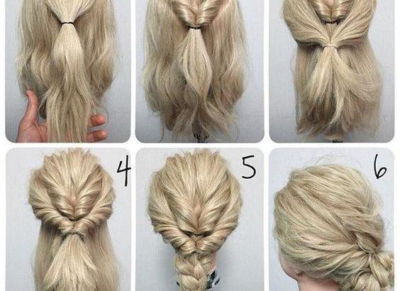 Remarquable Coiffures simples et rapides pour cheveux mi-longs : photos de EI-36