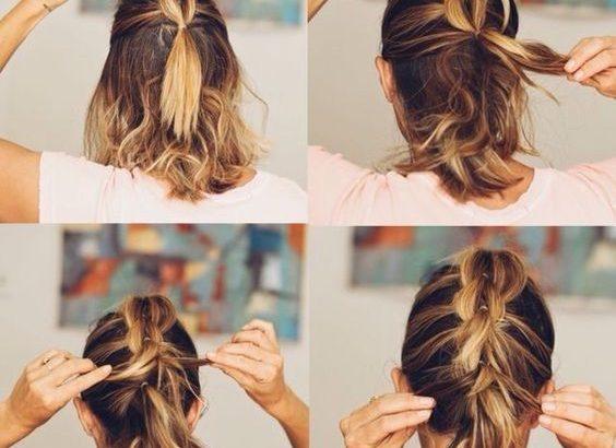Coiffure Simple Cheveux Courts 10 Tutoriels Faciles à